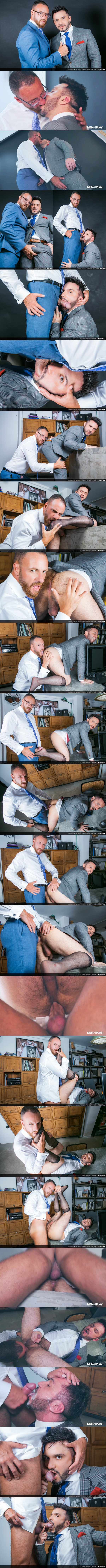 Menatplay - rugged macho daddy Leo Rosso barebacks handsome muscle bottom Kike Gil in the office before he gives Kike a thick facial in Peeping Photographer 02