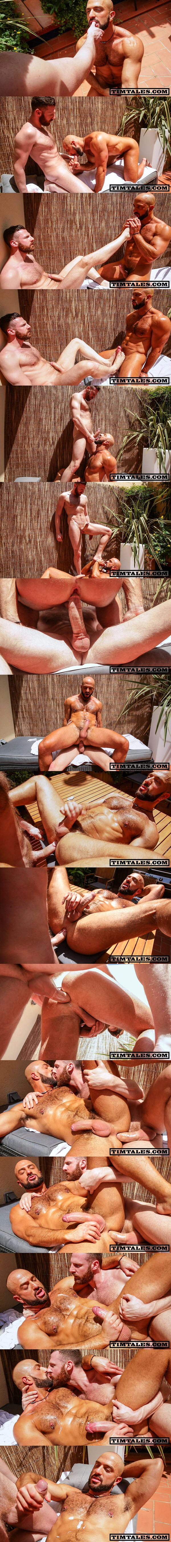 Timtales - Horse hung power top Tim Kruger fucks rugged handsome Italian beefcake Bruno Boni outdoors before he fucks the cum out of Bruno 02