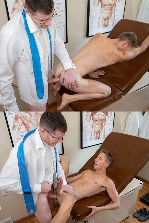 Funsizeboys - handsome, hung Doctor LeGrand Wolf barebacks cute twink boy Chase Daniels in doggy and missionary style before he creampies Chase in Doctor Follow Up 01