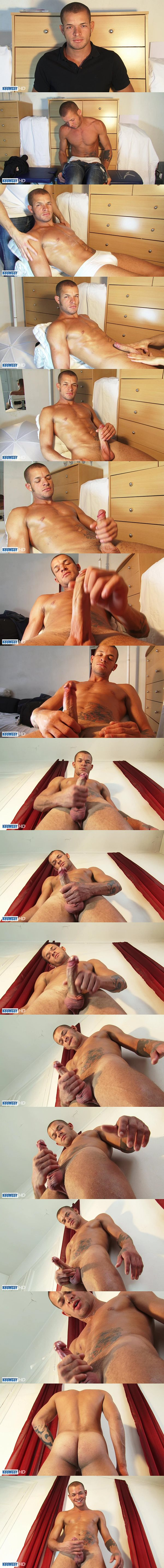 Keumgay - Masculine Brazilian straight hunk Marlon and sexy French gymnast Esteban gets massaged before they jerk off at Keumgay 02