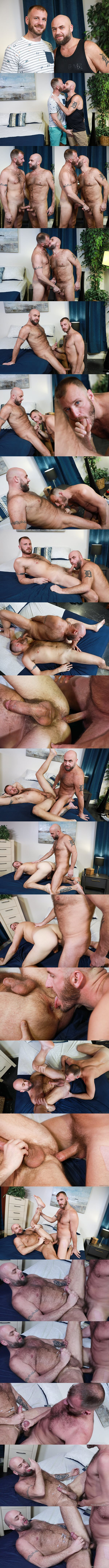Menover30 - manly fuzzy daddy Chase Ryder and Jax Hammer take turns barebacking each other's firm asses before Chase fucks the cum out of Jax and breeds him in Chase's bottoming debut in Versatile Fur 02