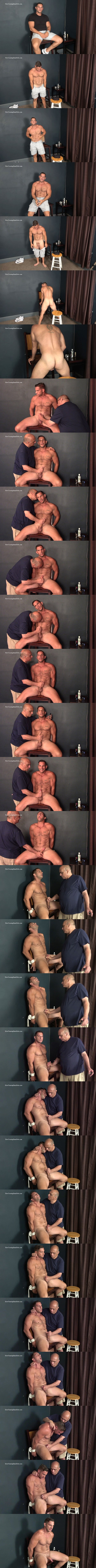 Slowteasinghandjobs - masculine straight muscle stud, sexy Italian male stripper Markey gets tied up, slowly stroked and edged until he gets jerked off in Markey's Natural Look 02