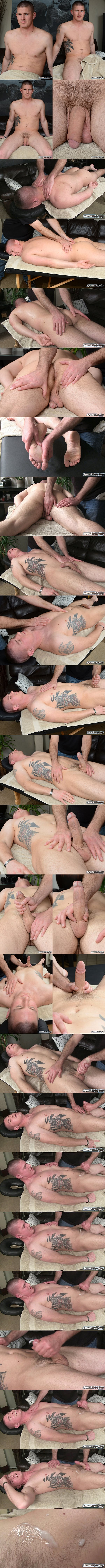 Spunkworthy - Fit straight muscle stud, EX Marine Eli gets massaged by a guy for the first time before the masseur strokes a sticky load out of Eli's hard cock in Eli's Massage 02