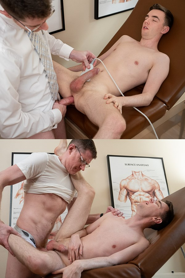Funsizeboys - Hot hung doctor LeGrand Wolf barebacks twink Lucas Ryder in his office before he creampies Lucas in this older younger scene in Chapter 2 Follow Up Visit 01