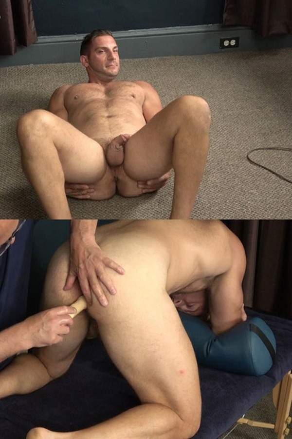 Hardupstraightguys - handsome Italian beefcake, straight muscular stud Markey gets his tight virgin hole fingered and dildo-fucked before he jerks off and eats his own load 01