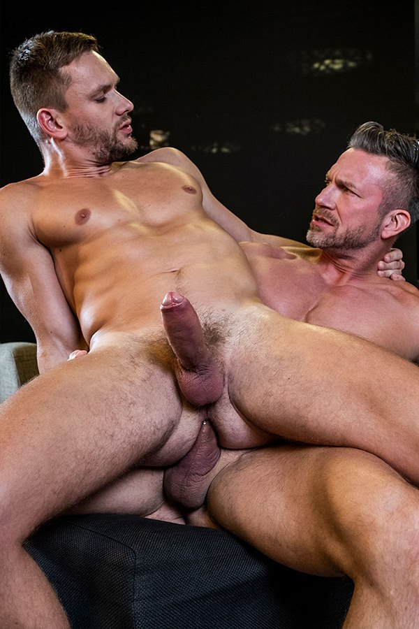 Lucasentertainment - ripped manly daddy Tomas Brand and Russian gay porn star Andrey Vic take turns barebacking each other before Andrey seed Tomas' worked hole 01
