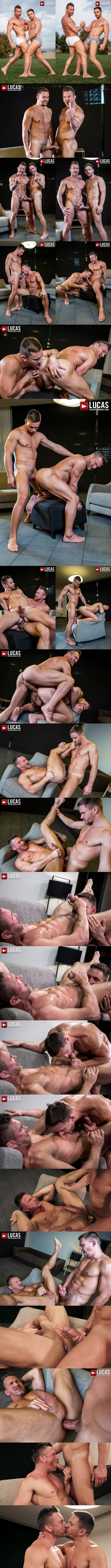 Lucasentertainment - ripped manly daddy Tomas Brand and Russian gay porn star Andrey Vic take turns barebacking each other before Andrey seed Tomas' worked hole 02