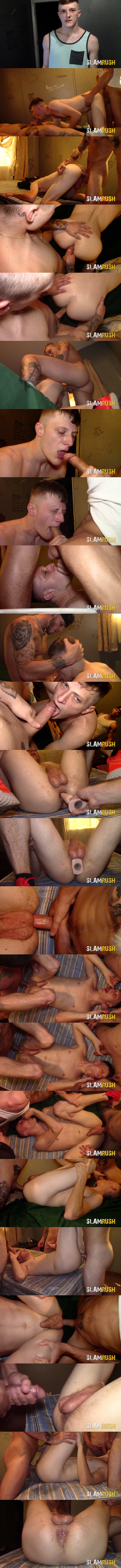 Slamrush - Street fuckers Justin Case, Tanner and Tony Hawg gangbang and bareback cum slut Holt Wood before they creampie Holt in Holt's bottoming debut in Deep Seed 02