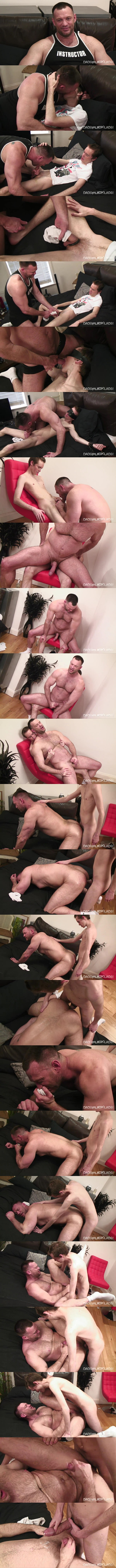 Twinktop - big-cocked lad Steven Prior fucks masculine Aussie muscle daddy Aaron Cage's firm ass in this older younger scene until he fucks the cum out of Aaron 02