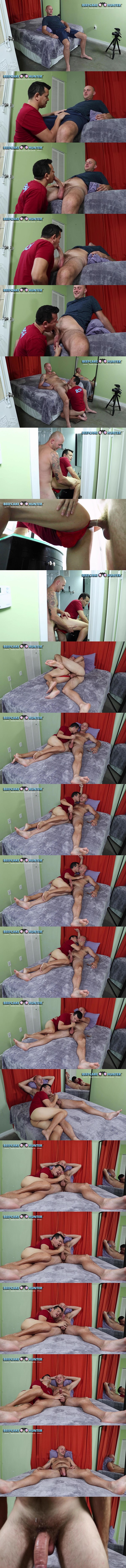 Beefcakehunter - big-cocked Polish straight hunk Justin gets his first man kiss before he fucks Victor's mouth and ass until Victor jerks Justin off in Finally Kissing Justin 02