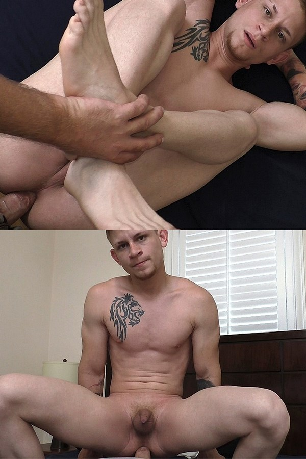 Boyshalfwayhouse - the house manager barebacks inked fit straight dude Matt Moss in different positions before he nuts in Matt's mouth in A Friend In Need Is A Friend Indeed 01