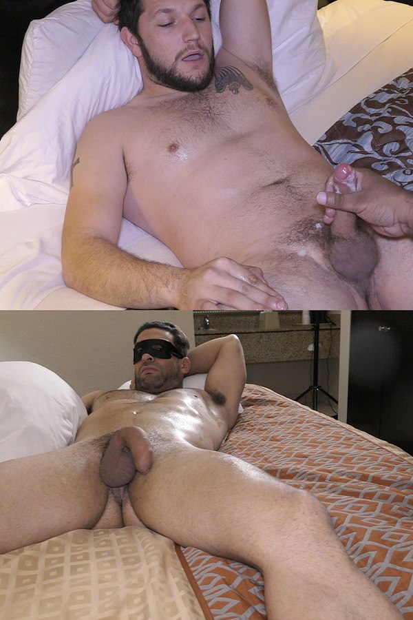 Fredsugar - bearded straight muscle stud JD Conway and hung macho Puerto Rican stud El Bandito get massaged and manhandled by a masseur before they get jerked off 01