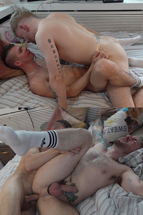 Hungyoungbrit - Hung Young Brit barebacks tattooed Scottish dude Reece's tight ass in several positions before he breeds Reece in Reece's bottoming debut 01