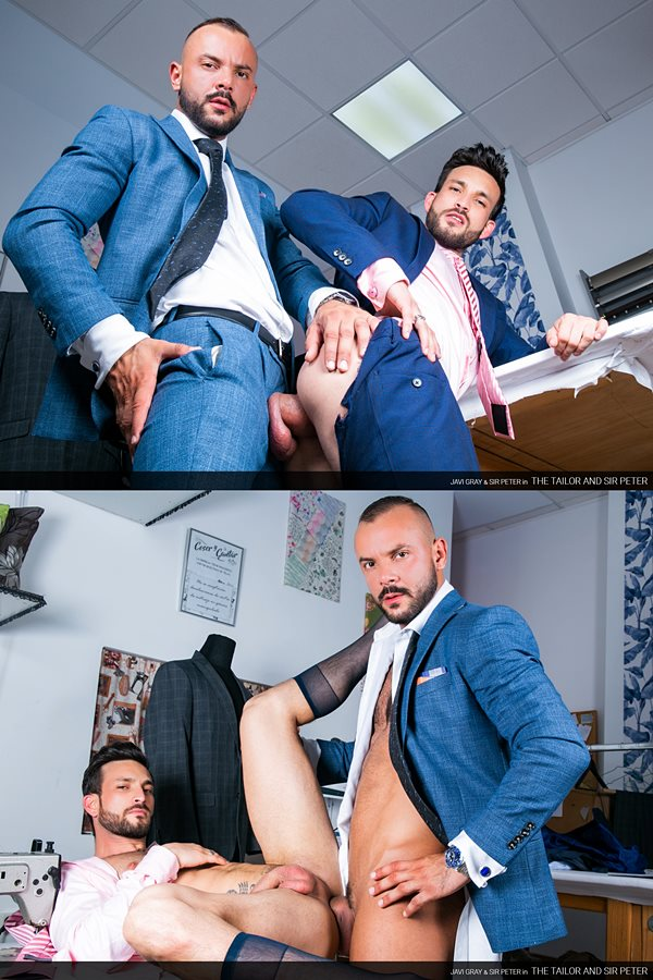Menatplay - veteran porn star Sir Peter barebacks handsome bearded newbie Javi Gray's tight ass before he fucks the cum out of Javi in Javi's bottoming debut 01