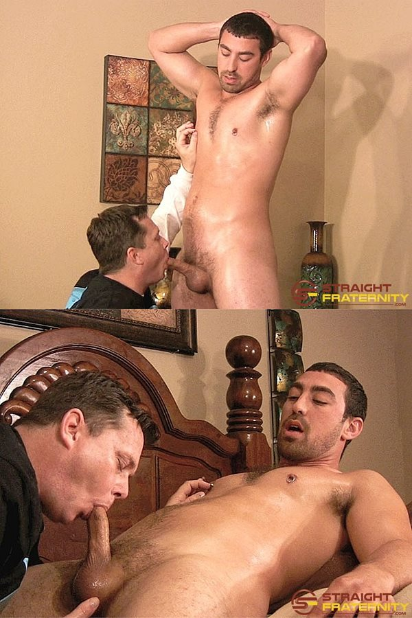 Straightfraternity - Ryan sucks and strokes masculine straight beefcake Blue's cock and finger-fucks Blue's tight virgin ass before Blue cums in Ryan's mouth in Edging and Assplay Suit Him Fine 01