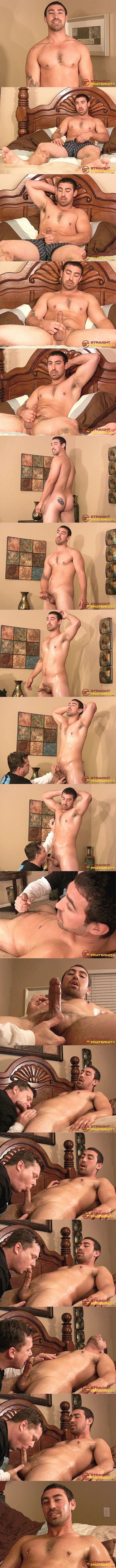 Straightfraternity - Ryan sucks and strokes masculine straight beefcake Blue's cock and finger-fucks Blue's tight virgin ass before Blue cums in Ryan's mouth in Edging and Assplay Suit Him Fine 02