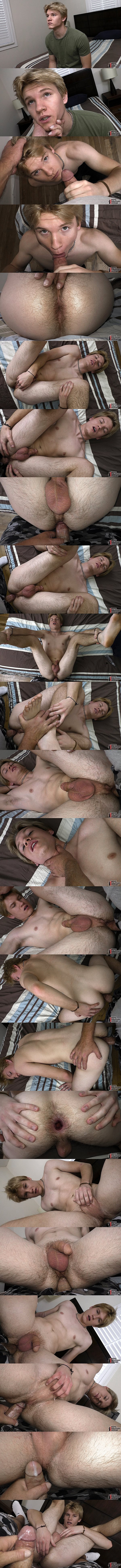 Boyshalfwayhouse - The house manager barebacks blond straight dude Tyler Blue's tight bubble butt in a POV scene before he creampies Tyler in Paying His Dues 02