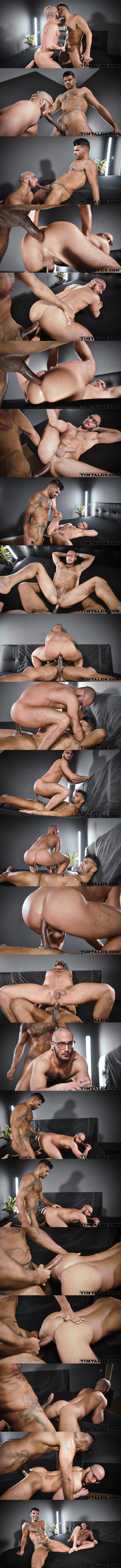 Timtales - hung Brazilian alpha top Leon (aka Leonxxl22) barebacks power bottom Saverio's bubble ass in different positions before he seeds Saverio's wrecked hole 02