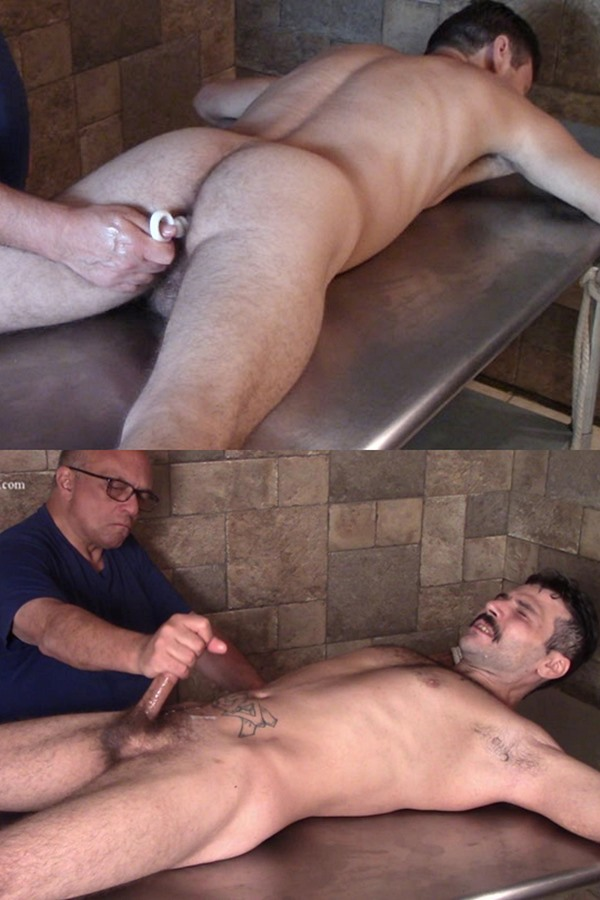 Hardupstraightguys - masculine straight beefacke, married husband Nick gets his virgin ass probed by a finger, buttplug and dildo before he's trying sounding and gets jerked off 01