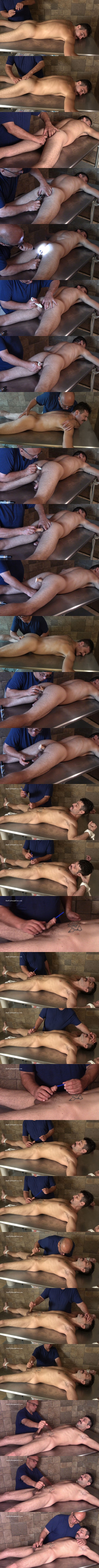 Hardupstraightguys - masculine straight beefacke, married husband Nick gets his virgin ass probed by a finger, buttplug and dildo before he's trying sounding and gets jerked off 02