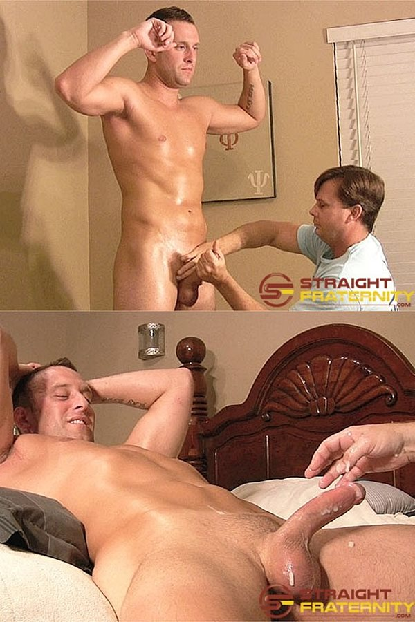 Straightfraternity - Ryan explores and fondles hot Navy stud Aiden's fit naked body, sucks and strokes Aiden's cock before jerks a creamy load out of Aiden's hard pole 01