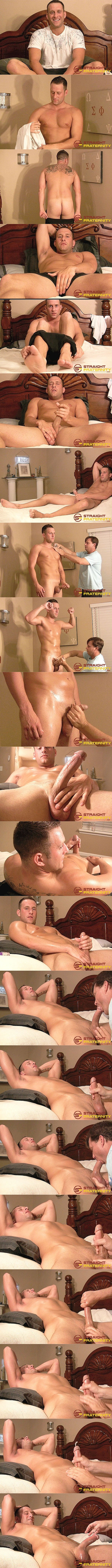 Straightfraternity - Ryan explores and fondles hot Navy stud Aiden's fit naked body, sucks and strokes Aiden's cock before jerks a creamy load out of Aiden's hard pole 02