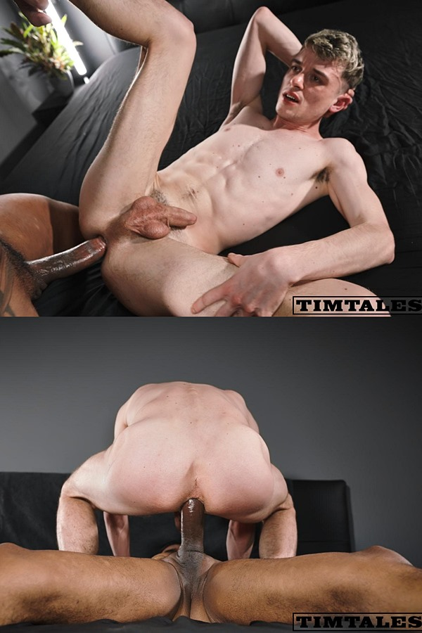 Timtales - macho hung Brazilian power top Leon (aka Leonxxl22) barebacks blond newcomer Jules Rimbaud before he breeds Jules in Jules' bottoming debut 01