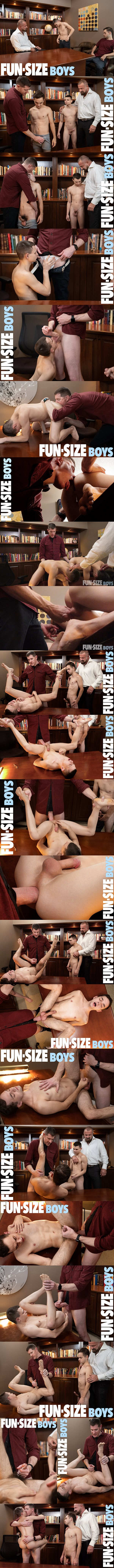 Funsizeboys - macho daddies Felix Kamp and LeGrand Wolf bareback cute twinks Austin Young and Marcus Rivers in an older younger scene in Fun-Pack Chapter 6 Principal's Office 02