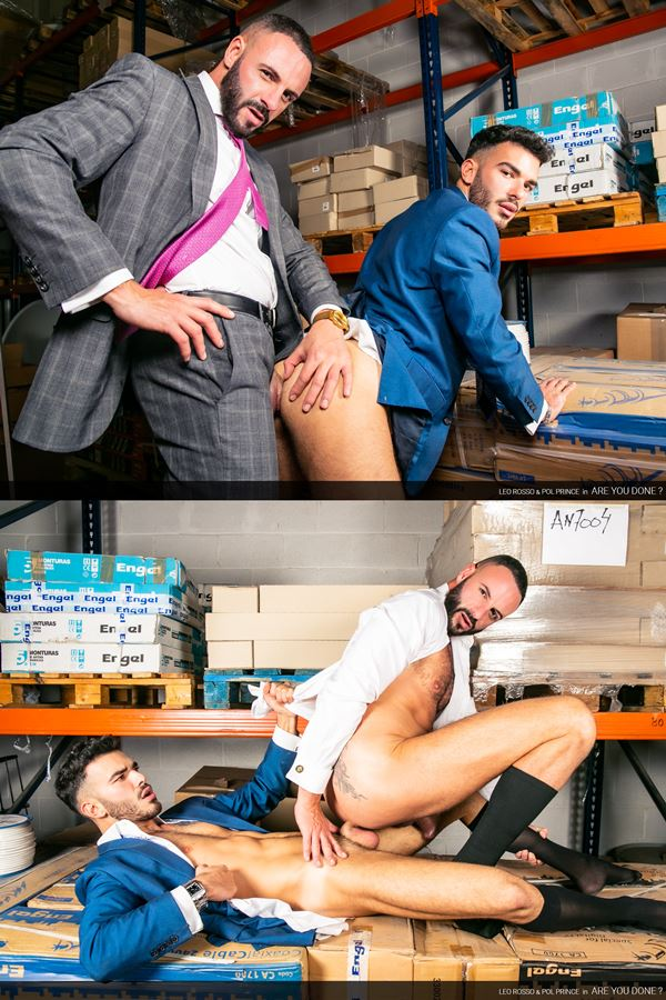 Menatplay - sexy bearded newcomer Pol Prince and masculine stud Leo Rosso take turns barebacking each other before Pol fucks the cum out of Leo in his bottoming debut 01