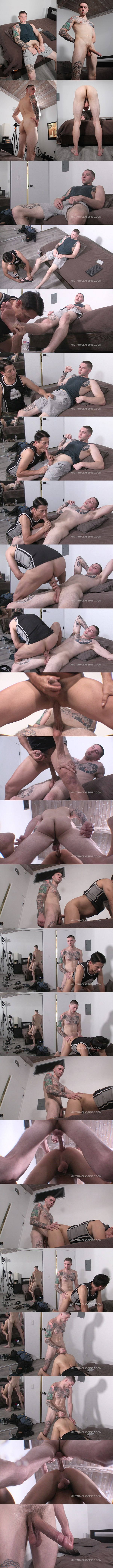 Militaryclassified - cocky straight Marine, big-cocked stud Gotti (aka Jake Hart) gets his manly bare feet worshiped by Rob before he barebacks and breeds Rob 02