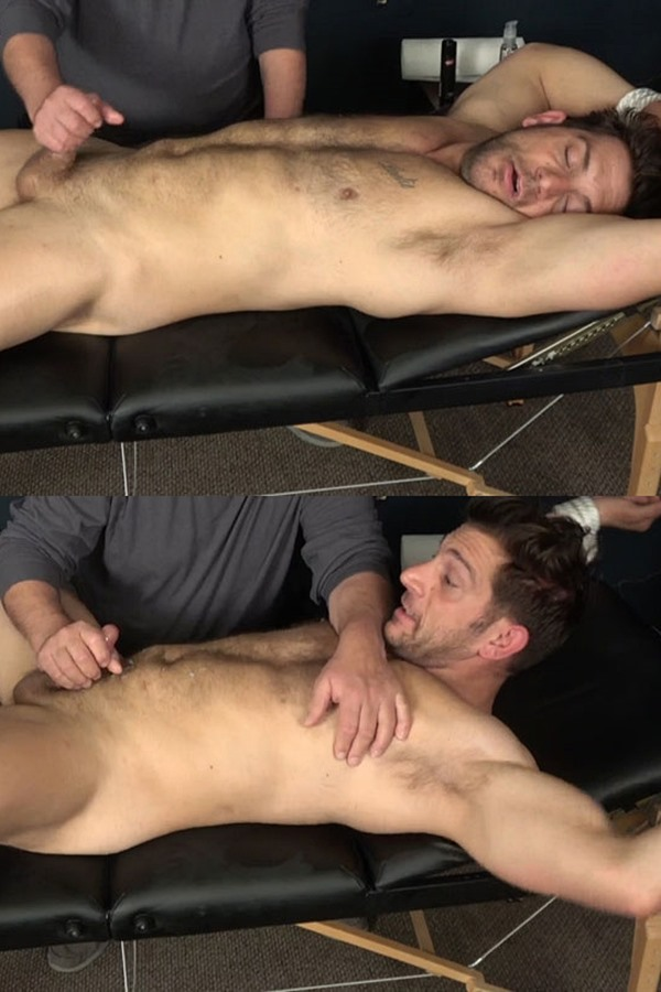 Slowteasinghandjobs - fuzzy macho straight beefcake, Italian muscle hunk Markey gets slowly teased, stroked, edged and jerked off in Markey Jerked Off and Milked 01