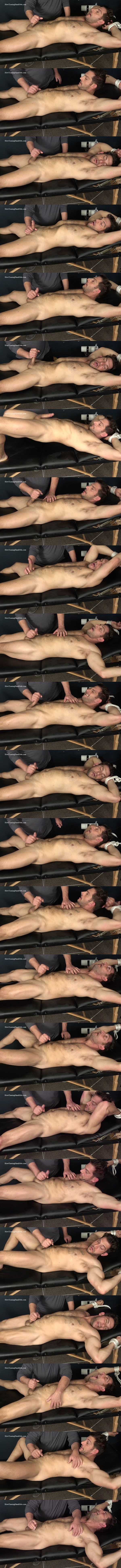 Slowteasinghandjobs - fuzzy macho straight beefcake, Italian muscle hunk Markey gets slowly teased, stroked, edged and jerked off in Markey Jerked Off and Milked 02
