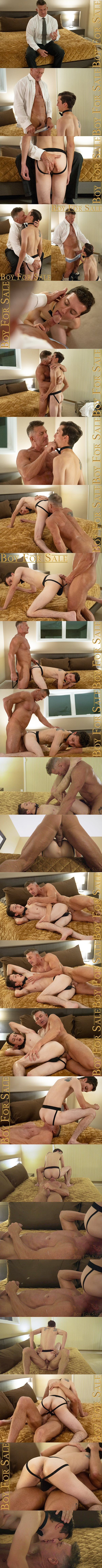 Boyforsale - hot daddy Matthew Figata barebacks twink bottom Jack Andram in this older younger scene before Matthew blows his load in Chapter 2 The Prize 02