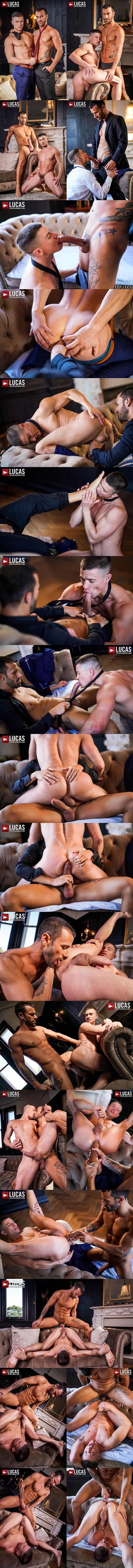 Lucasentertainment - rugged handsome Spanish porn star Gustavo Cruz barebacks and breeds muscle jock Ruslan Angelo in Gentlemen 30 Sweating Some Overtime 02