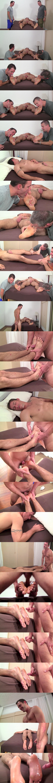 Myfriendsfeet - Cameron Kincade and another master worship sleepy straight dude Clark (aka Tom Maxwell) before Cameron fucks Clark's bare feet and cums on them 02