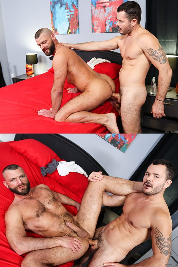 Pridestudios - big-cocked Russian hunk Valentin Petrov barebacks rugged handsome fuzzy stud Jake Morgan before he fucks the cum out of Jake in The Big Dick Bonus 01