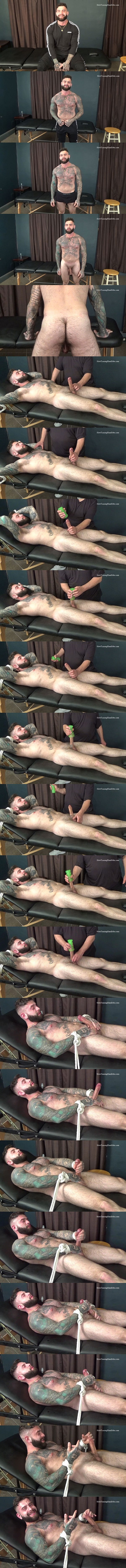 Slowteasinghandjobs - inked macho stud, straight constructon worker Joey (aka Giovanni) gets slowly teased and edged before Joey blows his white jizz 02