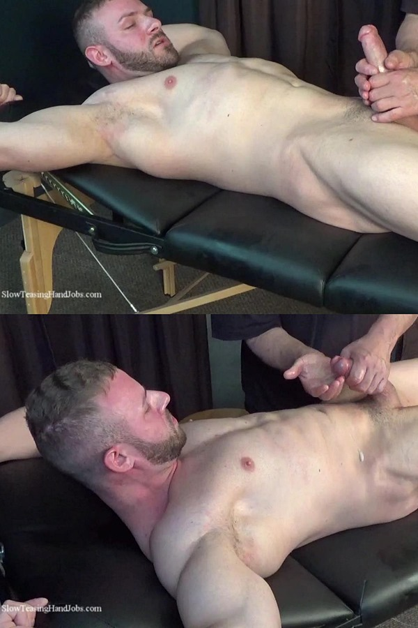 Slowteasinghandjobs - rugged handsome straight muscle stud Anthony Flex gets slowly serviced, stroked, edged and wanked off in Slow Hand Job for Anthony Flex 01