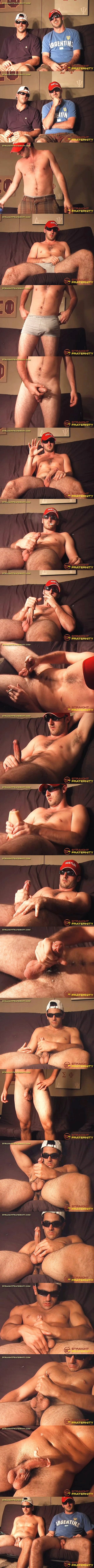 Straightfraternity - hot straight muscle jocks, real brothers Jayme and Jayson strip down and jerk off for the first time on screen in Two Real Brothers Compare Cocks 02