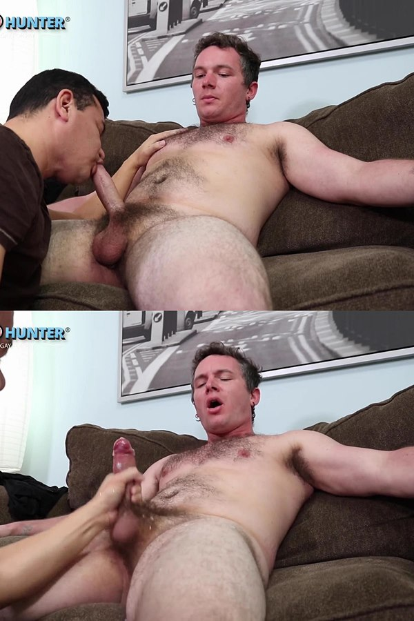 Beefcakehunter - Victor deep-throats straight uber driver Craig's dick and licks his big balls before he strokes a big creamy load out of Craig's hard pole 01