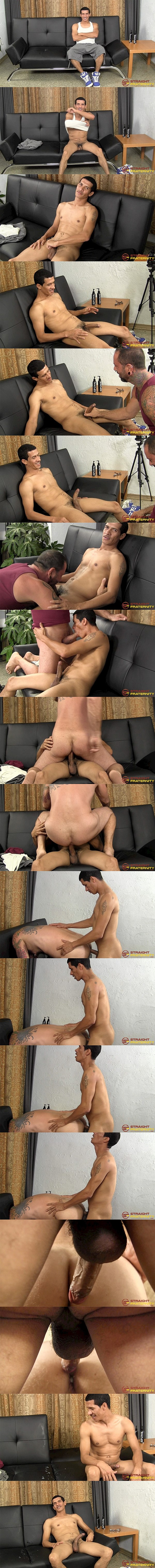 Straightfraternity - big-cocked Puerto Rican straight guy Parker barebacks inked daddy Franco Dax before he fucks the cum out of Franco and creampies him 02