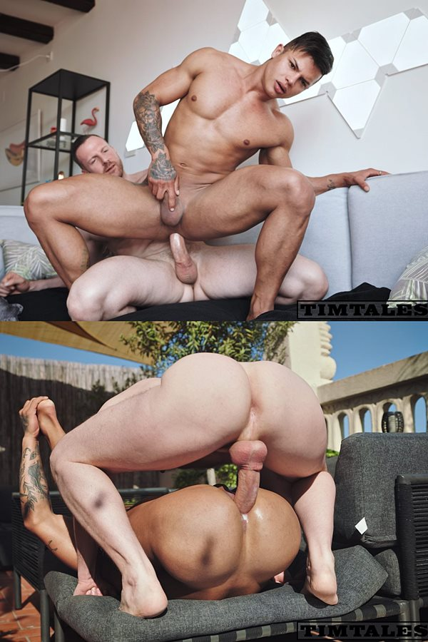 Timtales - German power top Tim Kruger barebacks Brazilian beefcake Fernando (aka Fernando Vasconcellos) before he creampies Fernando in his bottoming debut 01