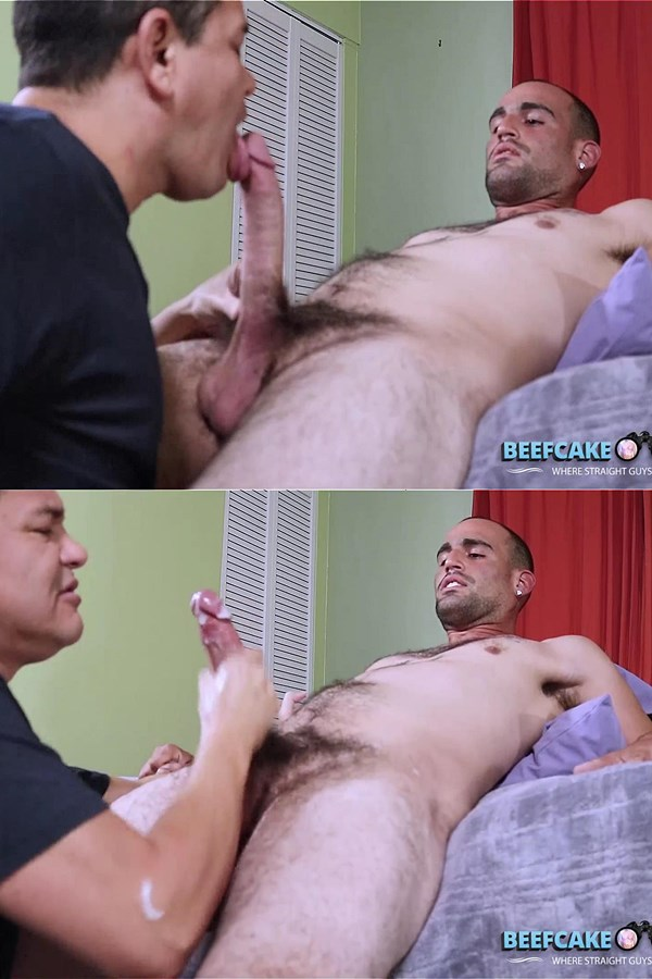 Beefcakehunter - Victor sucks macho, big-cocked straight construction worker Alexander's 9 inch cock before he strokes a big load out of Alexander's hard cock 01