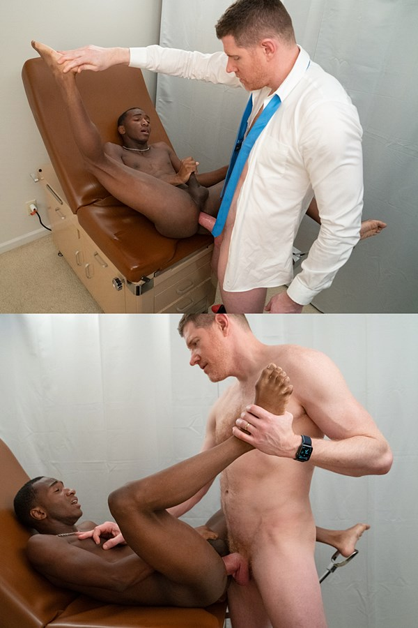 Funsizeboys - hung Dr. LeGrand Wolf barebacks newbie Kai's tight ass in an interracial older younger scene until he fucks the cum out of Kai in Dr. Wolf's Office 01