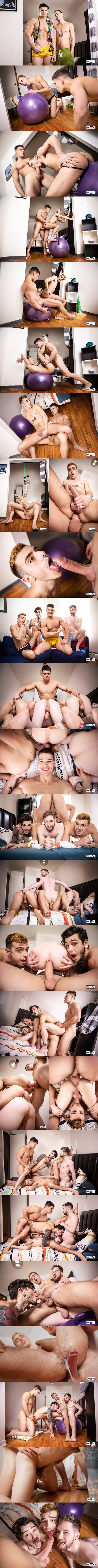 Men - handsome Canadian straight stud Malik Delgaty barebacks Sean Peek, Thyle Knoxx and Dex Parker before Malik fucks the cum out of Sean and Dex in Gawkers Uncut 02
