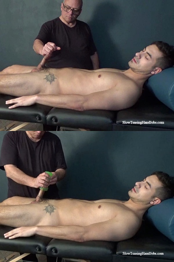 Slowteasinghandjobs - master Rich slowly strokes and edges straight jock Tim's cock with a pocket pussy until he jerks Tim off in Tim's Slow Pocket Pussy Edging 01