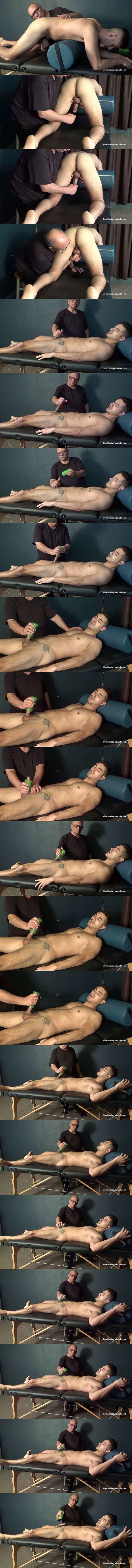 Slowteasinghandjobs - master Rich slowly strokes and edges straight jock Tim's cock with a pocket pussy until he jerks Tim off in Tim's Slow Pocket Pussy Edging 02