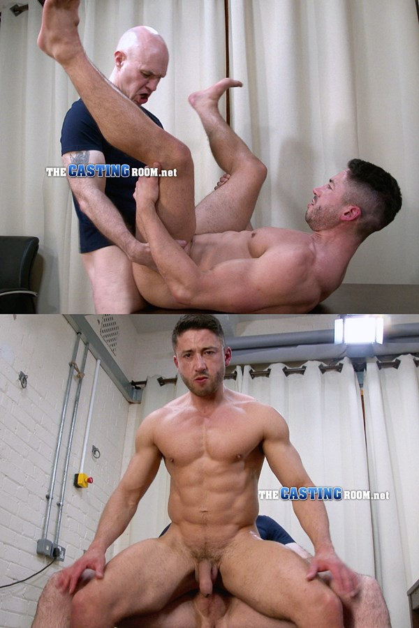 Thecastingroom - Adrian fucks masculine, chiseled personal trainer Thomas' virgin ass before he cums in Thomas' mouth and has Thomas swallow down his cum 01