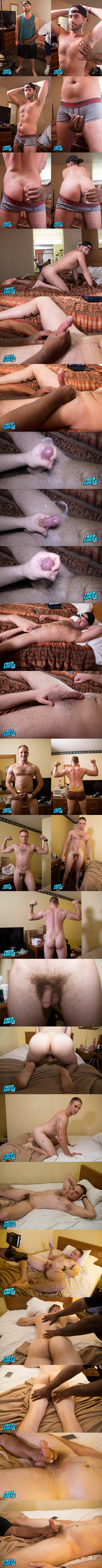 Fredsugar - manly hairy straight dude Wayne Williams and muscle hunk Winchester Roberts get serviced by a guy for the first time before they get jerked off 02