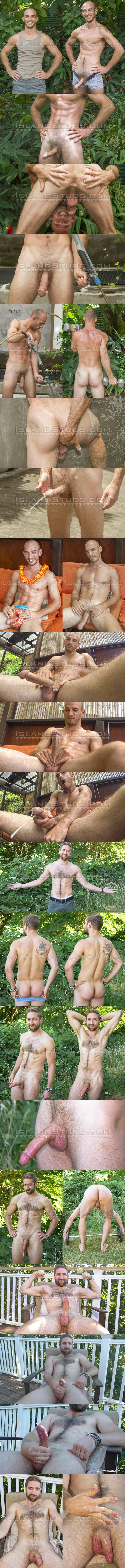 Islandstuds - big-cocked macho straight guardsman Eli and sexy fuzzy graduate student Mark strip down, open virgin manholes, work out, piss and jerk off 02
